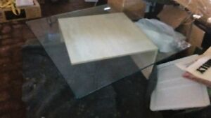 Contemporary Stone and Glass Table