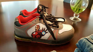 Size 1 - Iron man light up shoes - New Condition *Worn once*