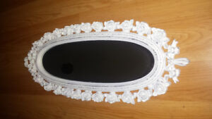 Very cute newer shaggy and seek carved rose mirror.
