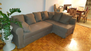 Ikea sectional pullout couch