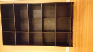 Dark brown bookshelf