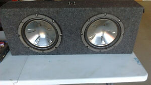 2 x 12 inch Pioneer Subs, Low Profile Box, Amp, Wiring/Acces