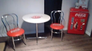 Vintage coca cola table and chair set