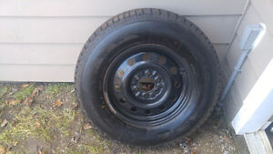 Firestone WinterForce tires and 17 steel rims