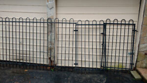 5 foot tall Black Metal Fence over 90 feet with gates