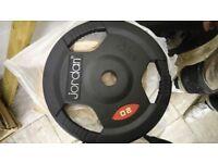 Jordan Commercial Rubber trigrip weight discs