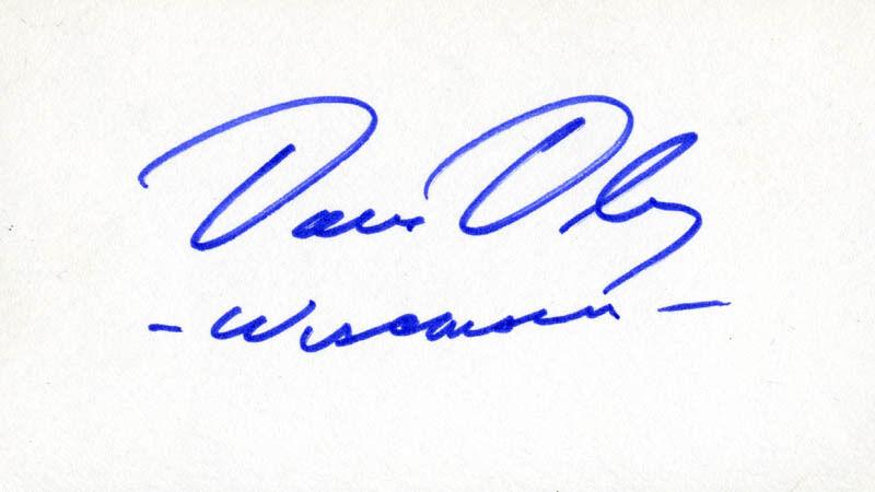 DAVID R. OBEY - SIGNATURE(S)