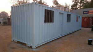 40' Containers & 40' Insulated Freezer, Bridge, Modified Office