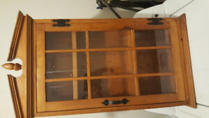 Solid Wood Cabinet With Glass Doors