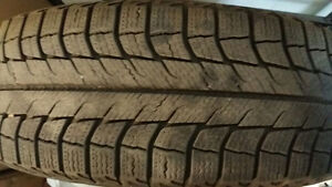 195/65R15 Michelin snow tires with steel rims for Honda Civic
