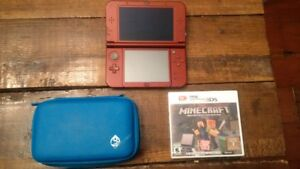 New 3DS with Minecraft and case