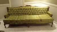 gorgeous old antique gold couch