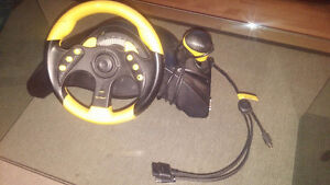 SONY PS2 - Madcatz MC2 Racing Wheel - Professional Gamers Series