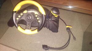 SONY PS2 - Madcatz MC2 Racing Wheel - Professional Gamers Series