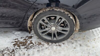 Sacchi aluminum rims studded winter tires 225 45 17 GM Audi BMW