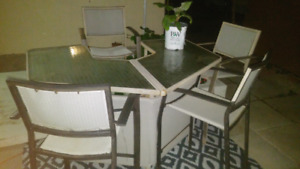 Bar Patio Table+4 Stools, Delivery Available