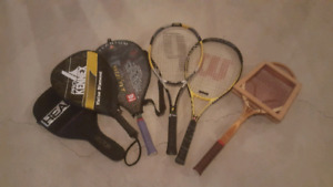 Assorted racquets