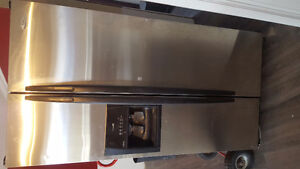 Working stainless fridge with water and ice maker