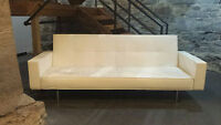 Sofa Cameo Cuir Blanc/ White Leather Cameo Couch