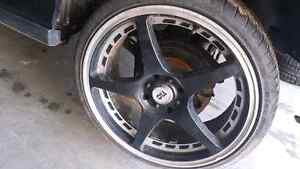 """Low profile tires with rubber still on 4bolt/holes 18"""""""