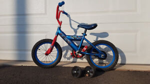 "14"" Huffy Avengers Bike (with training wheels)"