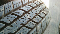 4 x 215/75R15 Motomaster Total Terrain tires - 95% tread