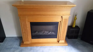 Large Electric Fireplace Mantel