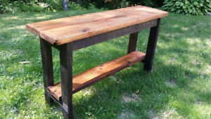 Kitchen island/Console table - made entirely from reclaimed wood