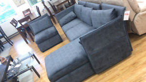 Brand New Fabric Sectional with Adjustable Handle for Sale
