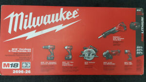 Milwaukee Tool 2696-26 M18 18-Volt 6-Tool Brand New