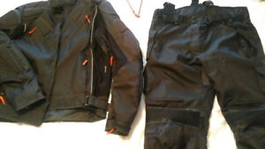 Motorcycle  jacket and pants and helmet  Men's XL