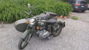 ROYAL ENFIELD military motorcycle DENPR side car SIDECAR