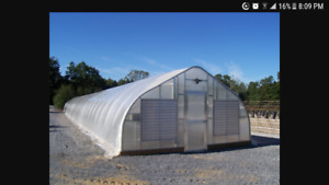 28 x 140 ft commercial greenhouse