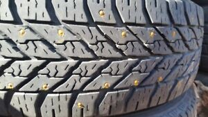 """Set of 4-175/70/14""""Goodyear Studded winter tires,LOTS of tread"""