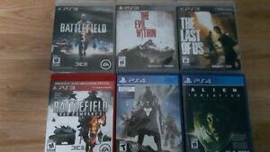 PS3/PS4 Games for sale