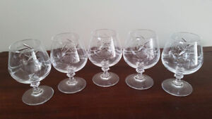 "Pinwheel small 4"" glasses - set of 5"