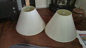 2 off white  Lamp Shades /