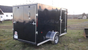 Like new 2017 6x12 V-nose cargo trailer with ramp door, e track