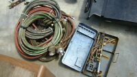 ACETYLENE TORCH WITH HOSES AND GUAGES FOR $140