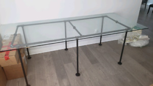 Industrial Glass Dining table