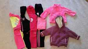 Girls track suits and sweaters 3-18 months