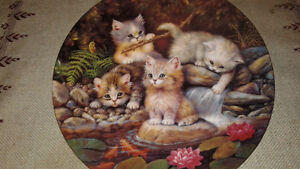 "Collectors plate ""Kitten Expeditions"""