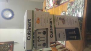 Cuisinart stainless steel coffee maker and 4 slice toaster