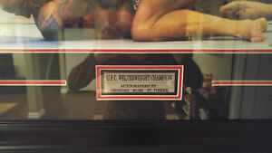 Autographed and framed picture of Georges St.Pierre UFC Kingston Kingston Area image 3