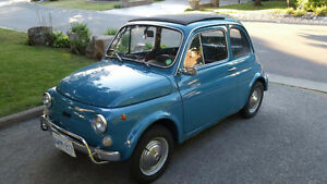 1971 Fiat 500L 2 Door Coupe Collector Car.