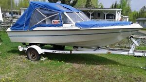 16ft. fiberglass boat with 40 Hp Motor and boat trailer