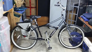 Men's or Ladies Townie, Pure or Sole 300. Peddle forward design.