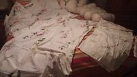 6 Pillows - 2 curtains - 1 Vallance. Never Used. ALL $15.00