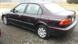 2000 Honda Civic SE Sedan1.6L Automatic CERTIFIED AND ETESTED