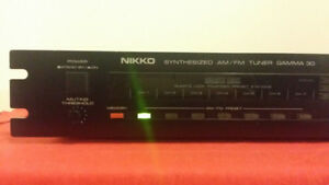 Nikko Gamma 30 AM/FM Digital Tuner - $60